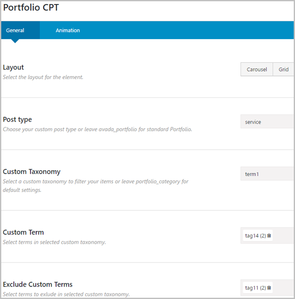 Custom Post Types, Taxonomies and Fields for Avada Builder - 4